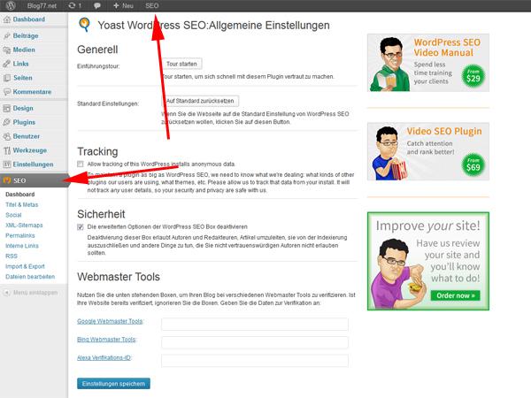 Suchmaschinenoptimierung für WordPress